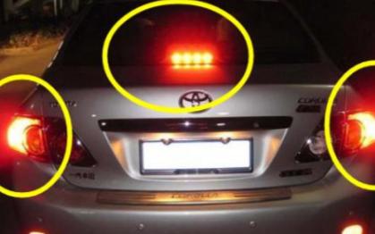 关于汽车制动灯的控制系统