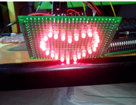 51单片机通过程序控制心形led灯闪烁的设计