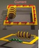 电感在磁性材料上的导线线圈产生磁场最终衰减则越慢