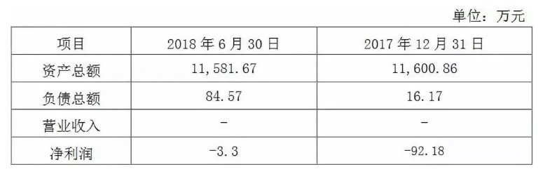 珈伟股份发布公告:2018上半年福建珈伟的资产总...