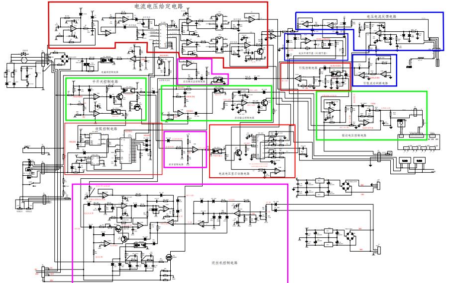 奥太NBC500焊机控制板控制单元功能分区电路原理图免费下载