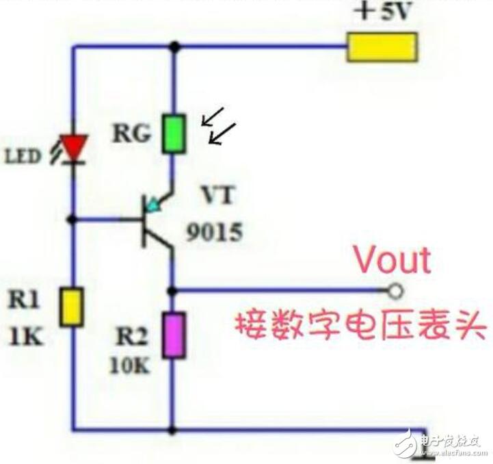 光敏电阻构成的测光电路图