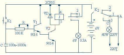 继电器延时开关电路的原理及检测