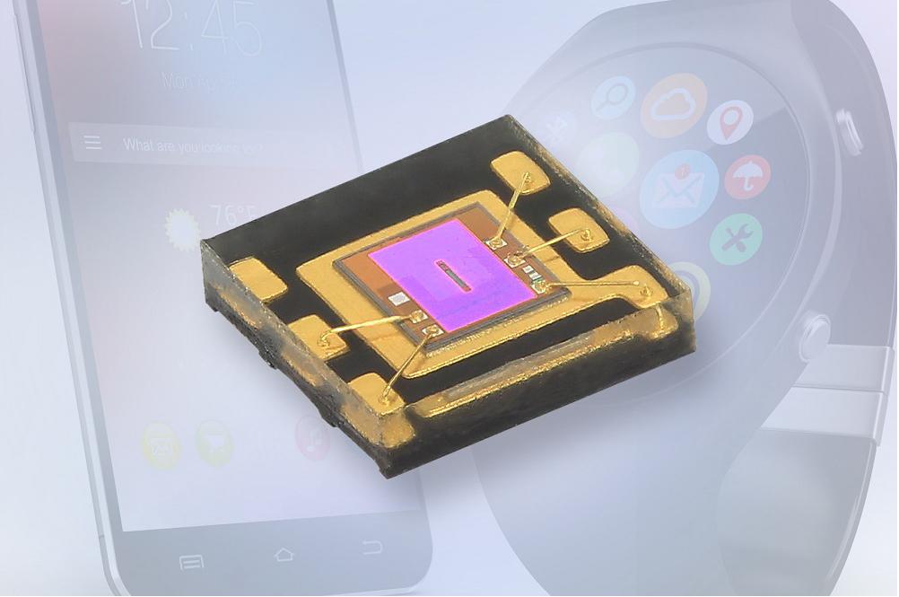 Vishay推出針對智能手表和運動手環的新型環境光傳感器——VEML6035