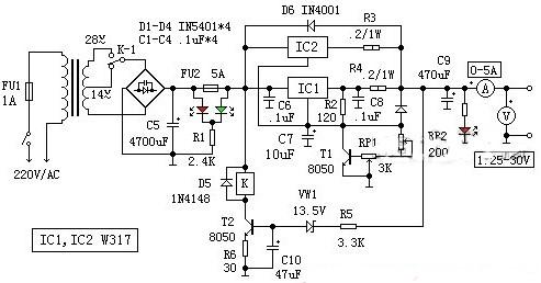 小型集成稳压电源的电路设计原理