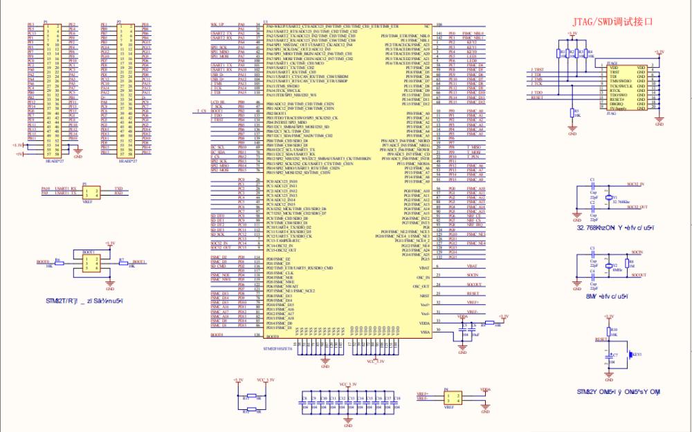 STM32F103ZET6黑色系统板道仙一�}���f是**防御最差电路原理图免费下载