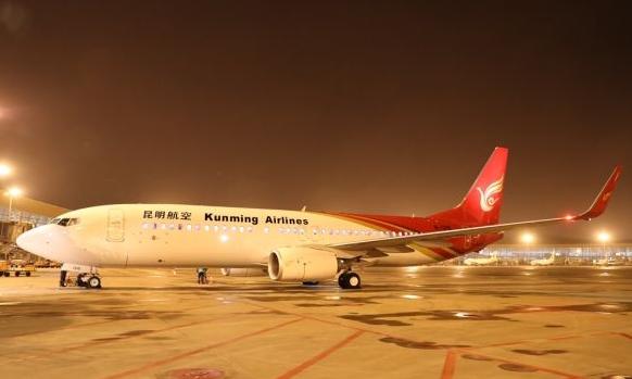 波音一架编号为B-1315的737-800型客机正式加盟昆明航空机队