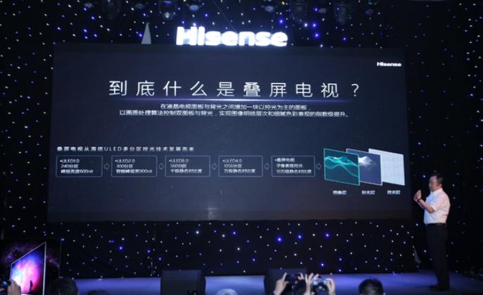 海信全球首发叠屏电视U9 首次实现背光层、控光层...