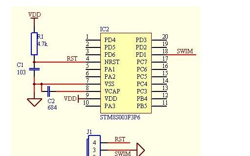 STM8S003最小系统模块使用手册