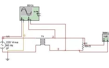 Multisim10中的变压器应该如何设置参数