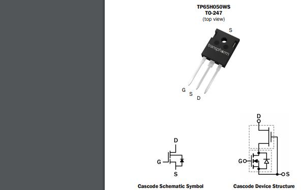 TP65H050WS GaN场效应晶体管的数据手册免费下载