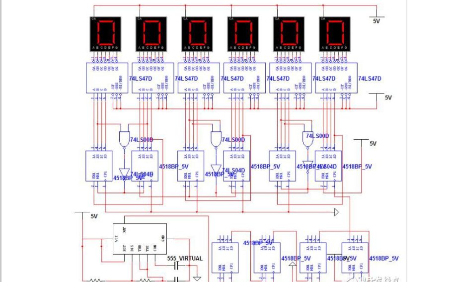 CD4518同步加法计数器的工作原理和时序图及应用电路汇总