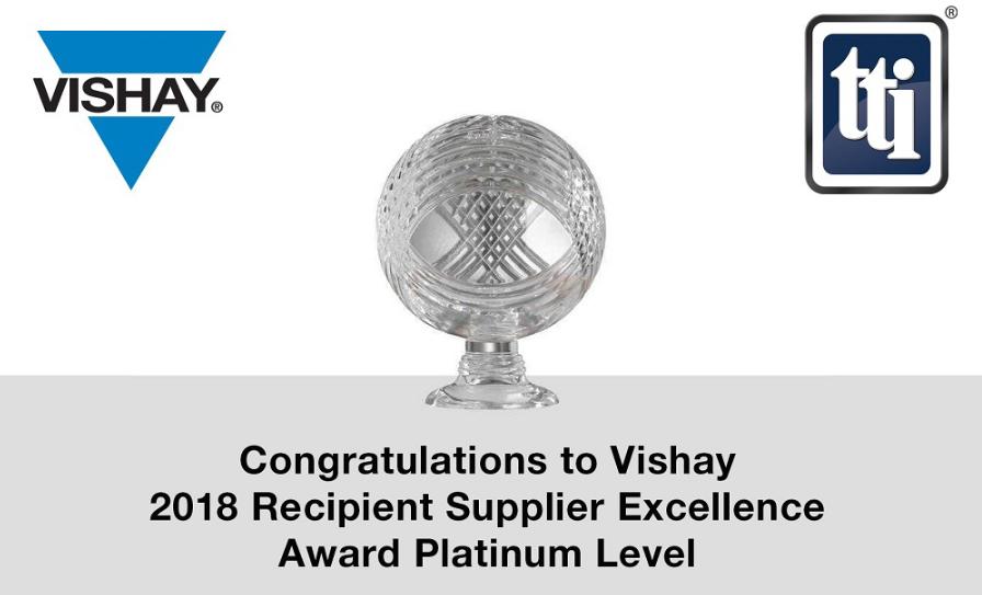 Vishay荣获TTI美洲、欧洲和亚太地区优秀供应商奖