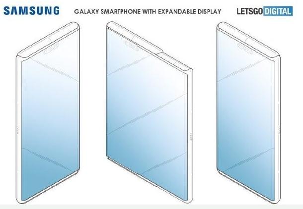 三星新折叠屏专利曝光可以从侧面向外拉伸拉开后就成...