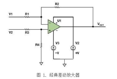 经典差动放大器应用电路详解