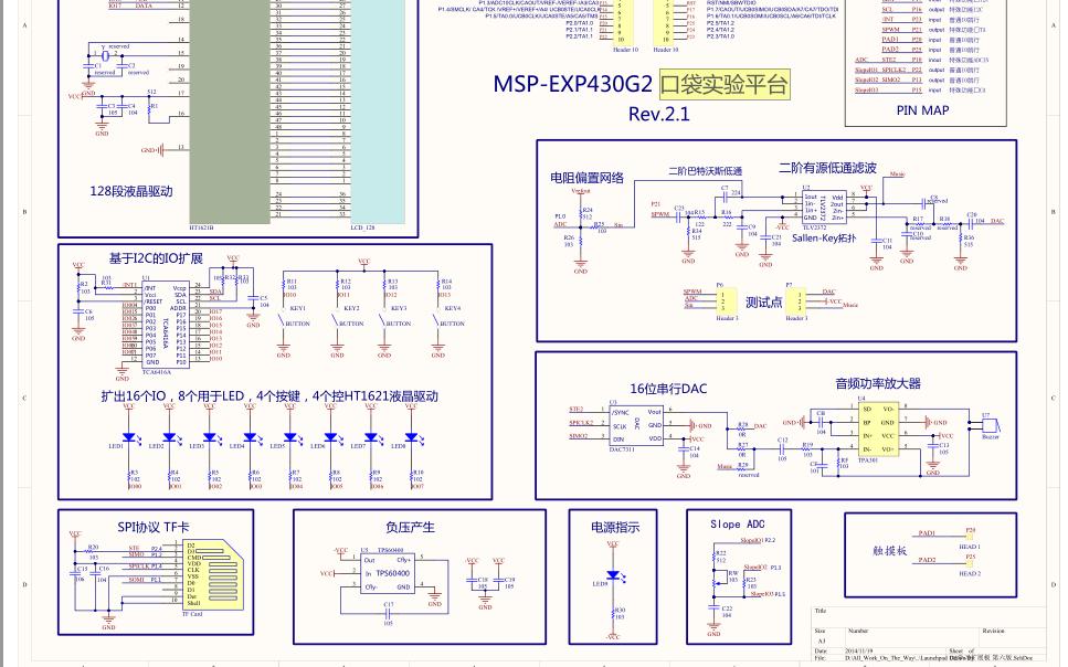 MSP-EXP430G2口袋实验平台的用户手册和原理图免费下载