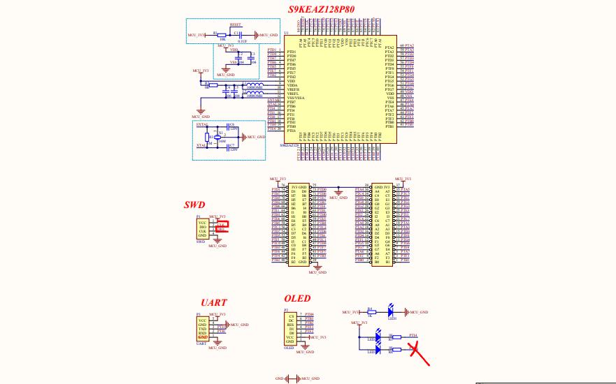飞思卡尔智能小车的KEA芯片电路图免费下载
