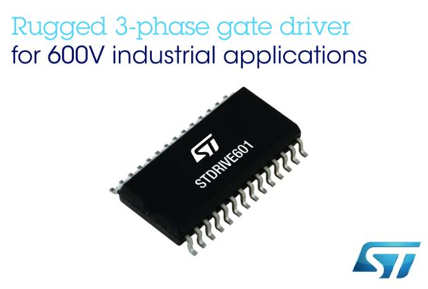 意法半导体600V三相智能关断栅极驱动器 稳健性居业内最先进水平