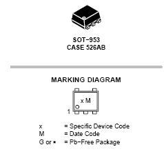 NUP45V6 用于ESD保护的低电容5.6 V...