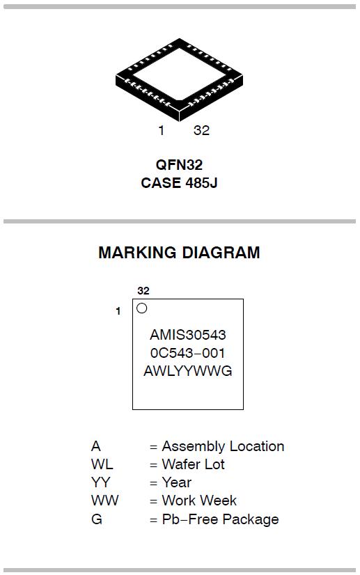 AMIS-30543 微步电机驱动器