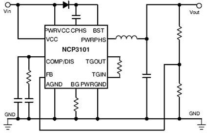 NCP3101 同步降压稳压器 PWM 6.0 A