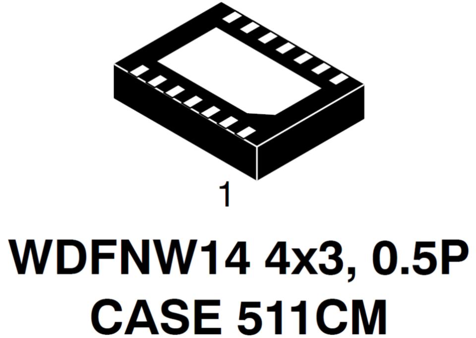 NCV6356 同步降壓轉換器 處理器電源 I2C編程 5.0 A.