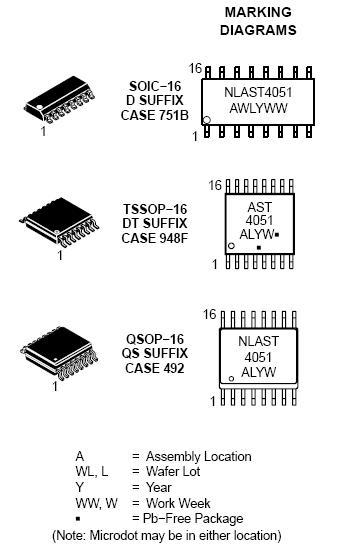 NLAST4051 模拟多路复用器/多路解复用器