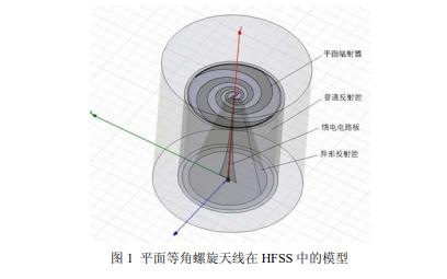 使用HFSS设计平面等角螺旋天线的详细资料说明