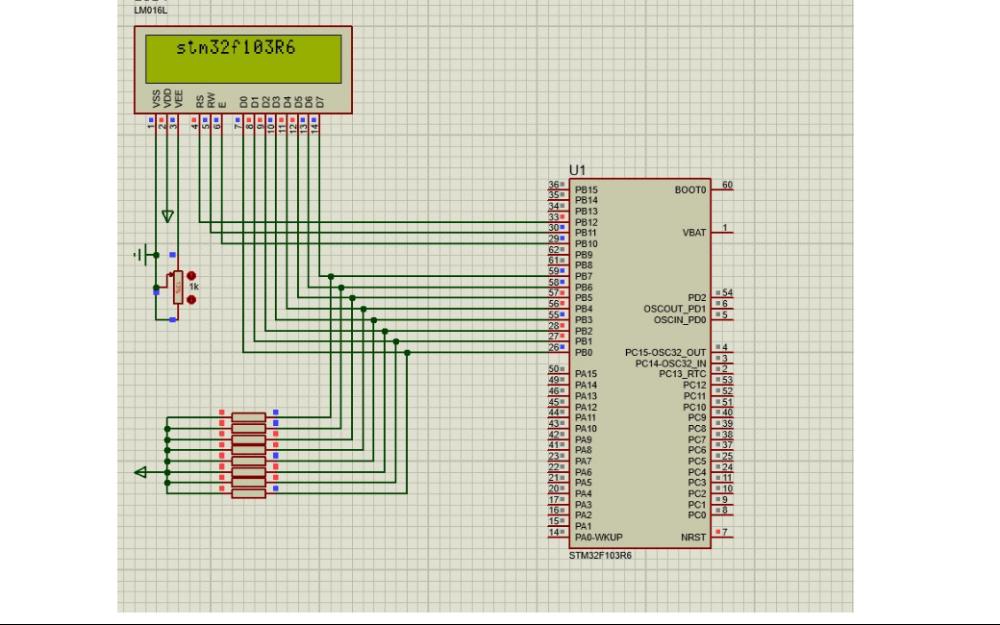 使用STM32F103单片机显示可移动换方向LCD字幕的程序