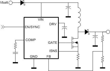 NCV8872 汽车级非同步升压控制器