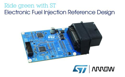 意法半导体携手艾睿电子发布电子燃油喷射系统电控单元参考设计方案