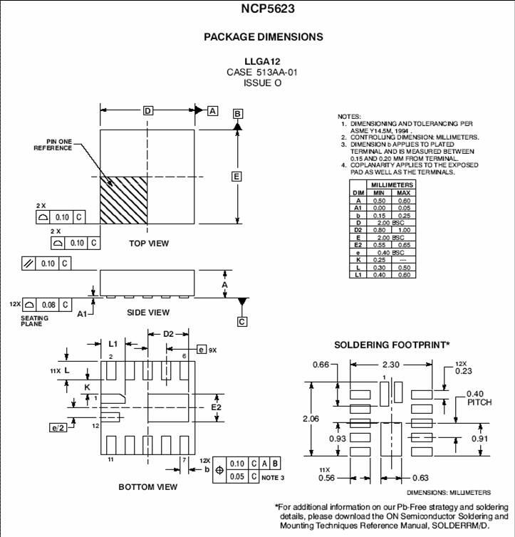 NCP5623D LED驱动器 三路输出 RGB I2C控制
