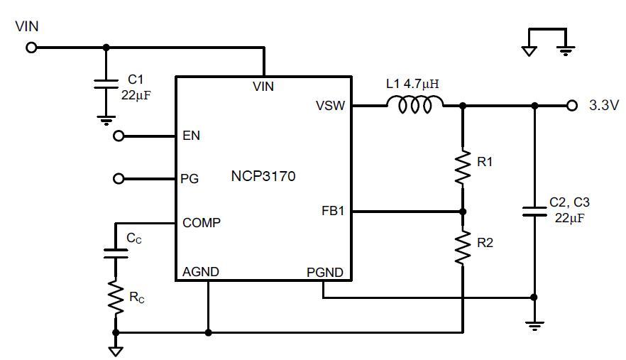 NCP3170 降壓穩壓器 開關 PWM 3.0...