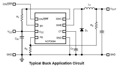 NCP3064 升压/降压/反相转换器 开关稳压器 1.5 A 带开/关功能