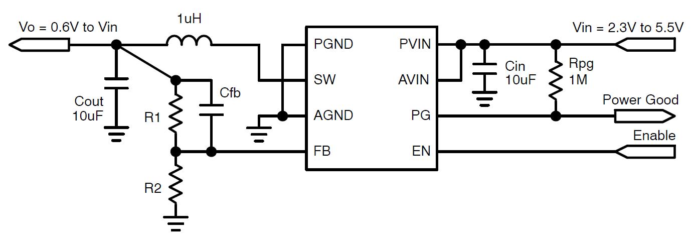 NCV6334 3.0 MHz 2.0 A PFM / PWM同步降压转换器 具有良好的功率