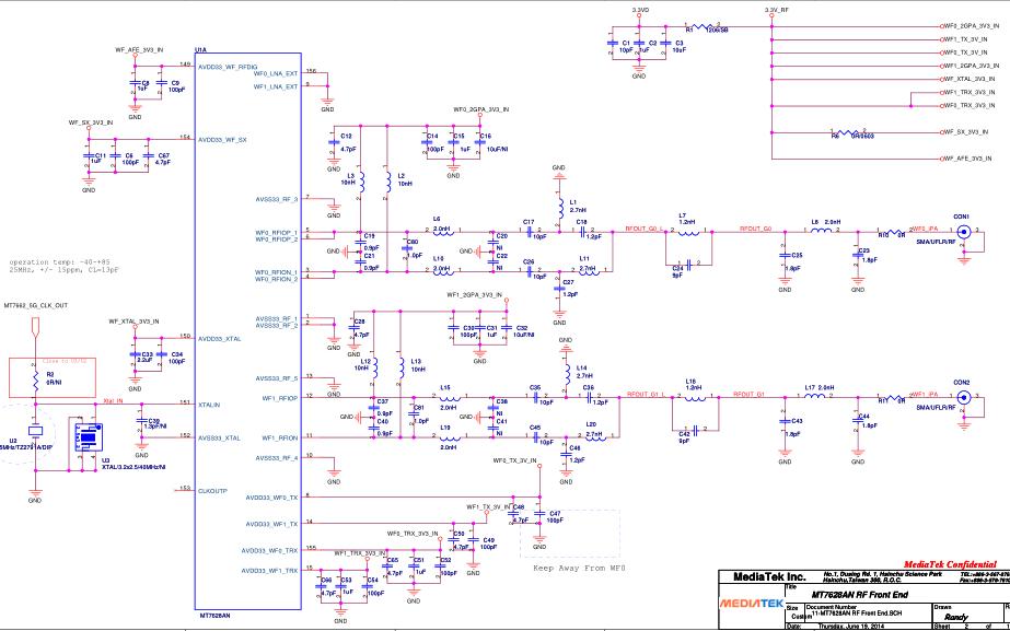 MT7628路由器芯片的数据手册和电路图免费下载