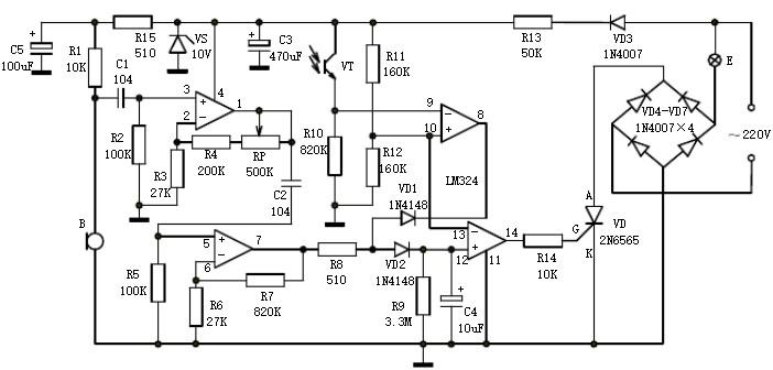 声光控就去吻开关电路的基本原理是什么