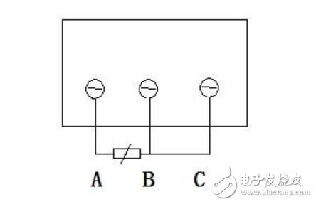 温度传感器怎么接线图