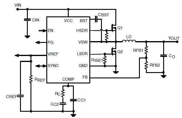 NCP3012 同步PWM控制器