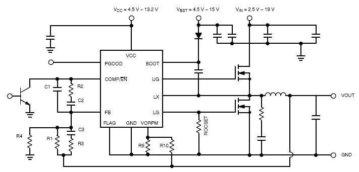NCP1589L 同步降压控制器 低电压 轻负载效率和瞬态增强
