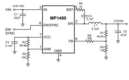 MP1495模式轉換器的數據手冊免費下載
