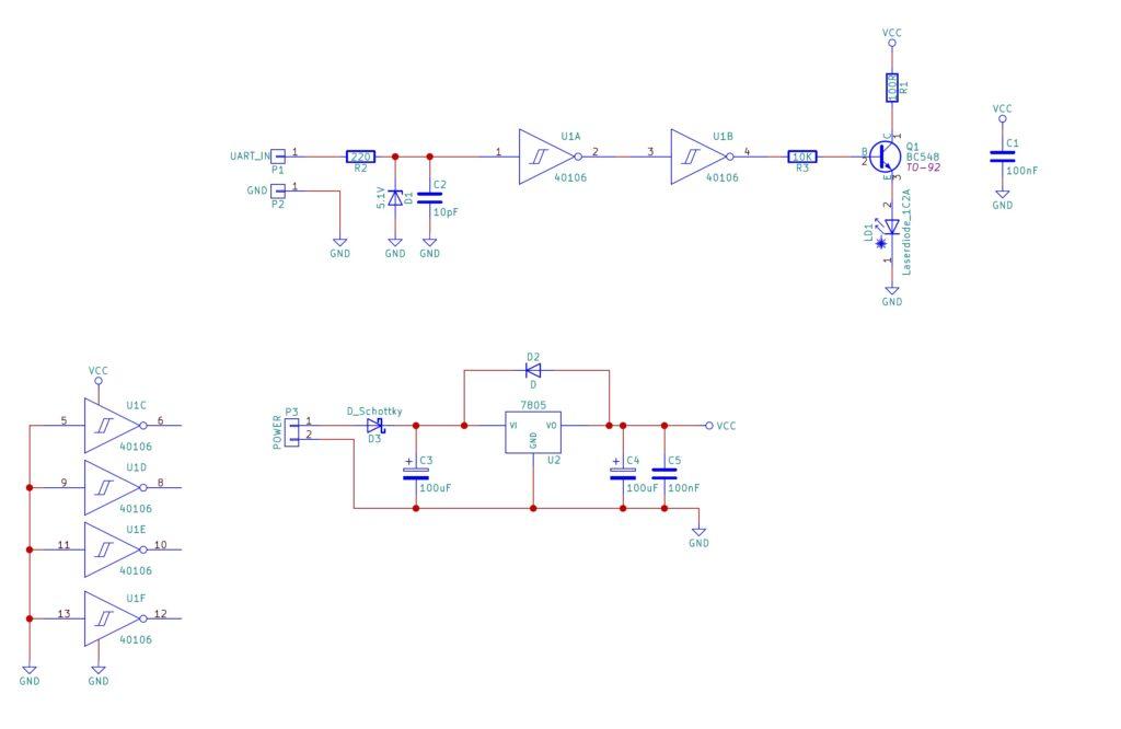 怎样用激光二极管传输UART数据