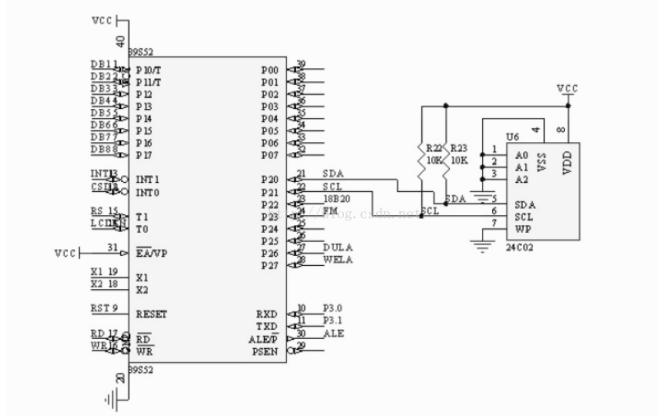 51單片機IIC總線通信協議及簡單應用實例的程序免費下載