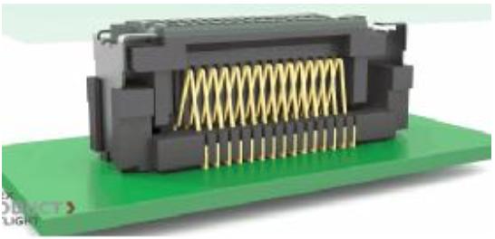莫仕尺寸最小的浮动端子板对板连接器