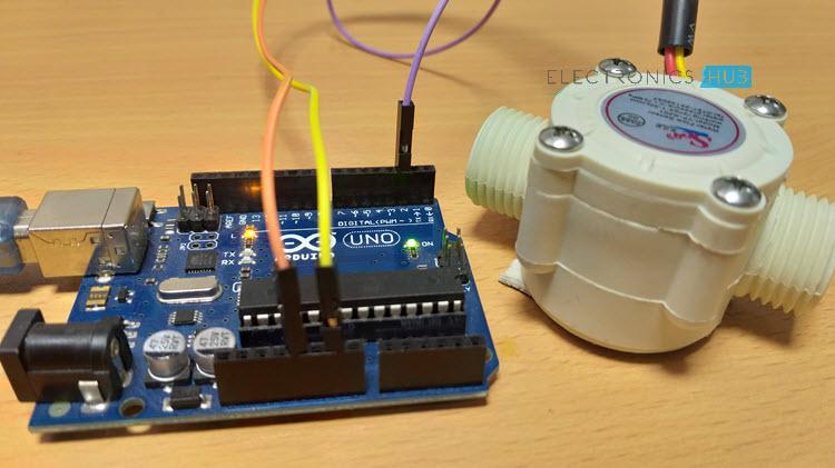 水流量传感器怎样与Arduino连接