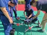为7月应急通信比武 开展了无人机实飞操作及图传联用训练