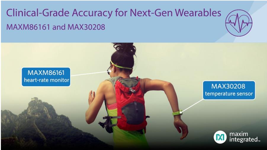 maxim推出MAX30208温度传感器及MAXM86161心率监测器