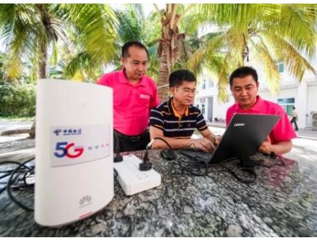 中國電信在永暑礁和永興島正式開通了兩個5G基站