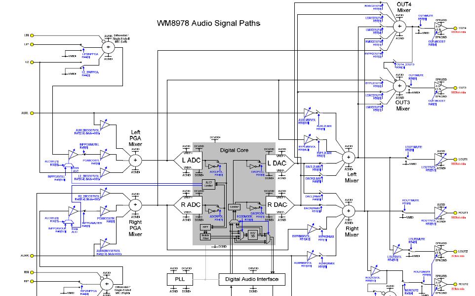 WM8978立体声编解码器的数据手册免费下载