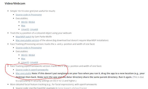 怎样用openFrameworks人脸跟踪器模式控制电机